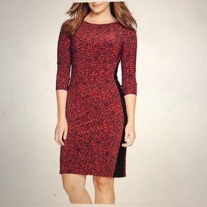 Ralph Lauren Print Jersey Sheath Dress